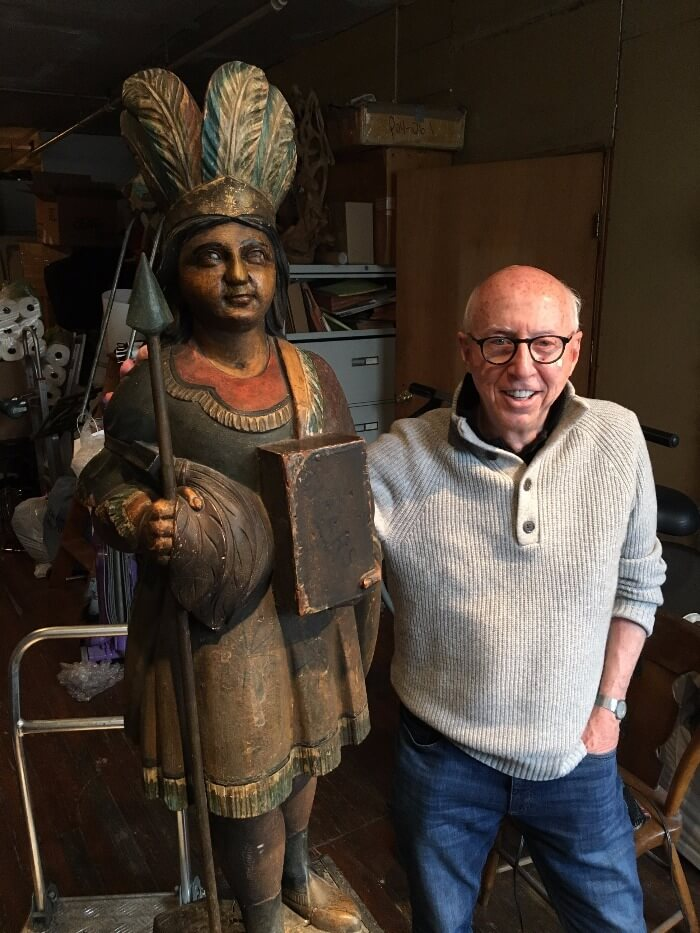First Allan Katz with Cigar Store Indian