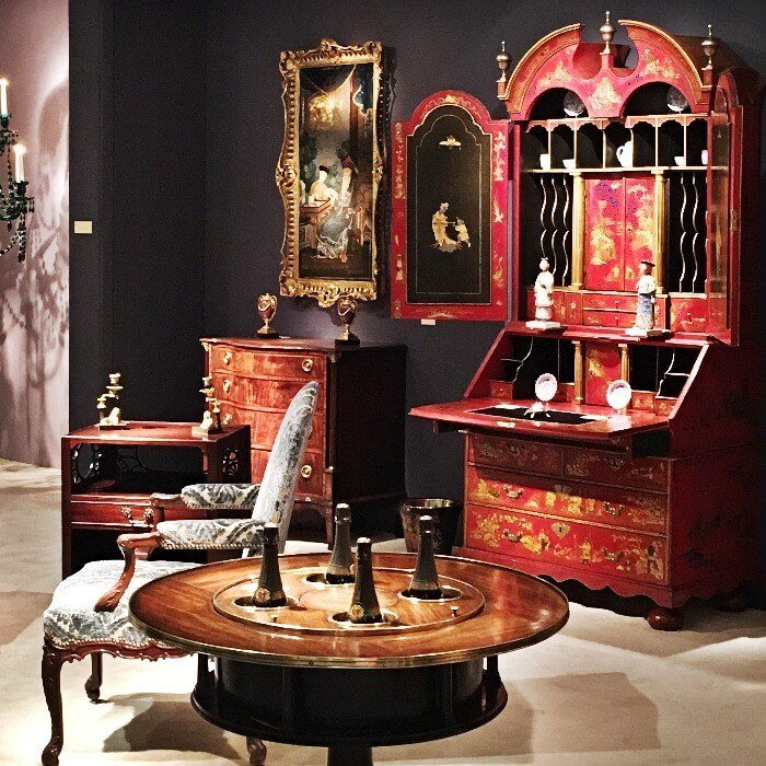 Winter Antiques Show Red Desk