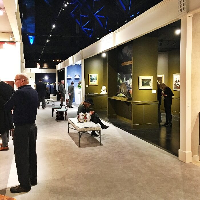 Winter Antiques Show Hallway view