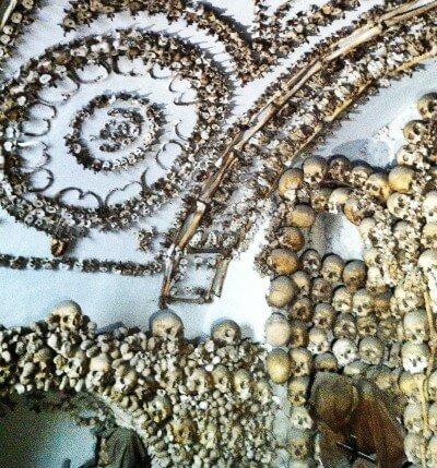 Weird Santa Maria della Concezione Crypt Rome Ceiling Detail