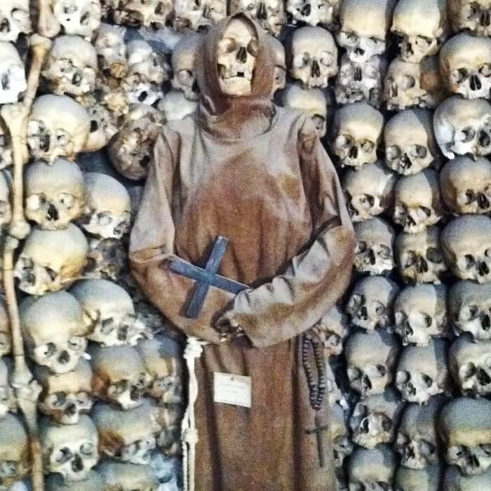 Weird Santa Maria della Concezione Crypt Rome Monk