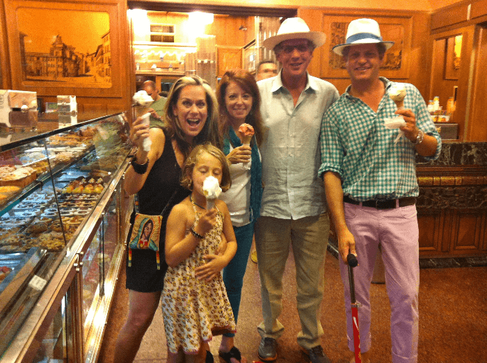 Gelato Shop with Lucy and Steve Wrubel at Giolitti in Rome