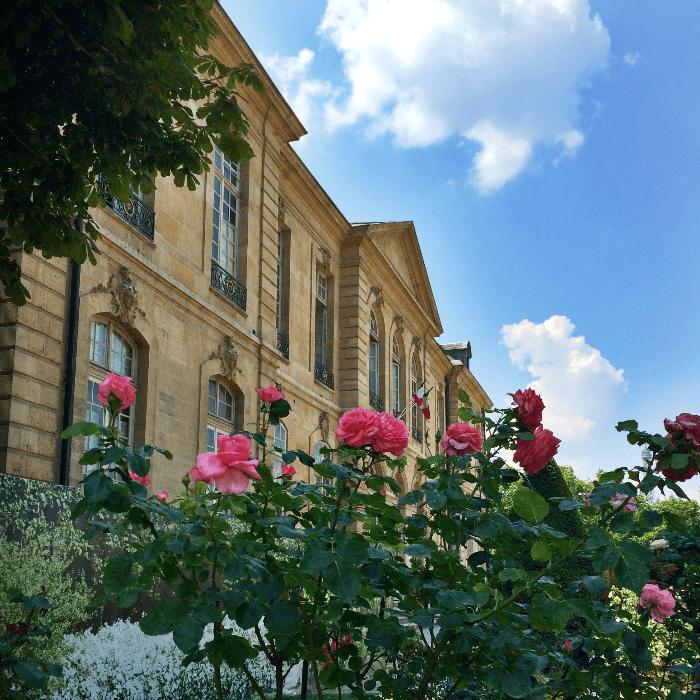 Rodin Museum Paris Facade with rose bushes