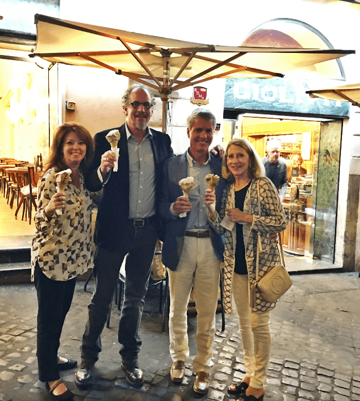 Gelato Shop with Debbie and Nickey Oates in Rome