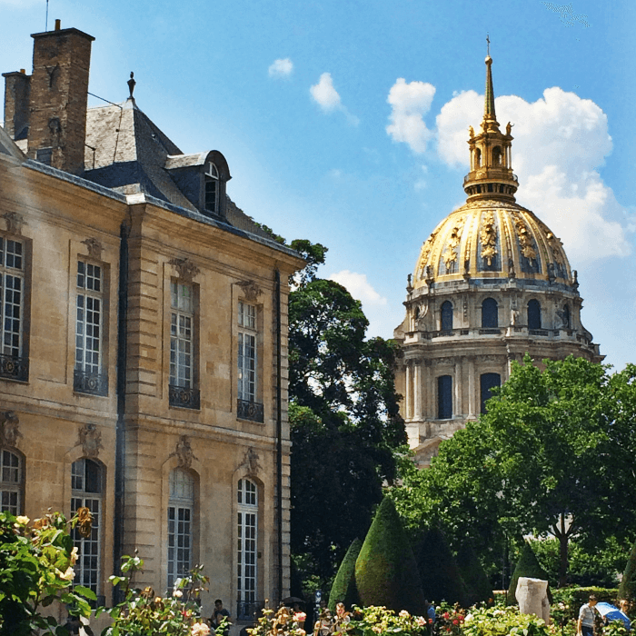Rodin Museum with Les Invalides Dome in background