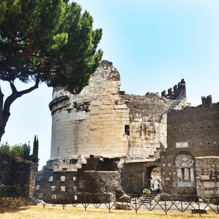 A Walk Along the Appian Way Tomb of Cecilia Metella
