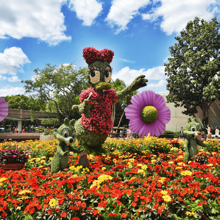 Family Travel Epcot Topiary