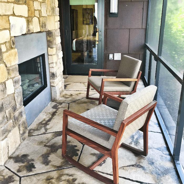 Getting Back to Nature Walt Disney World Resorts outside fireplace