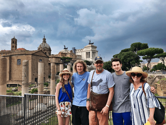 The Curious Cowgirl and Family at the Roman Forum