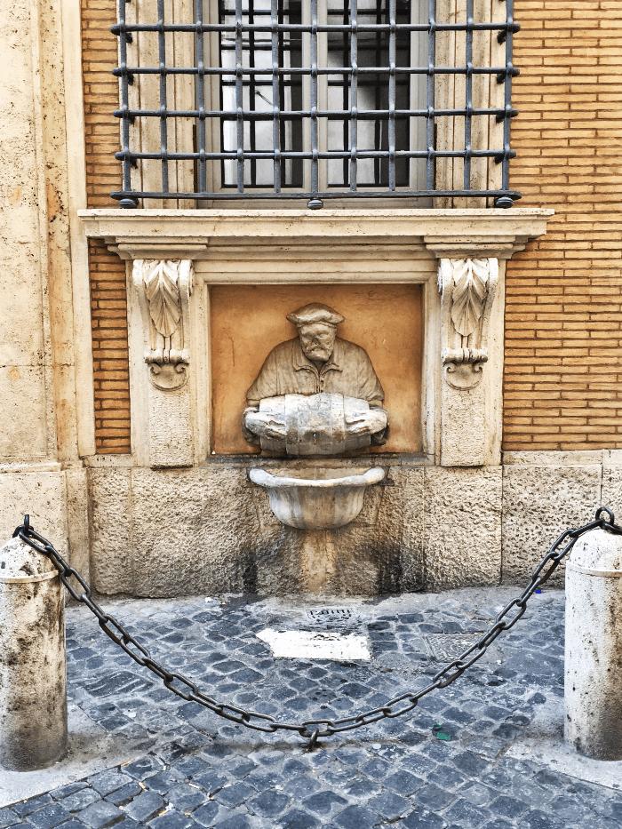 Roman Sculpture of Il Facchino