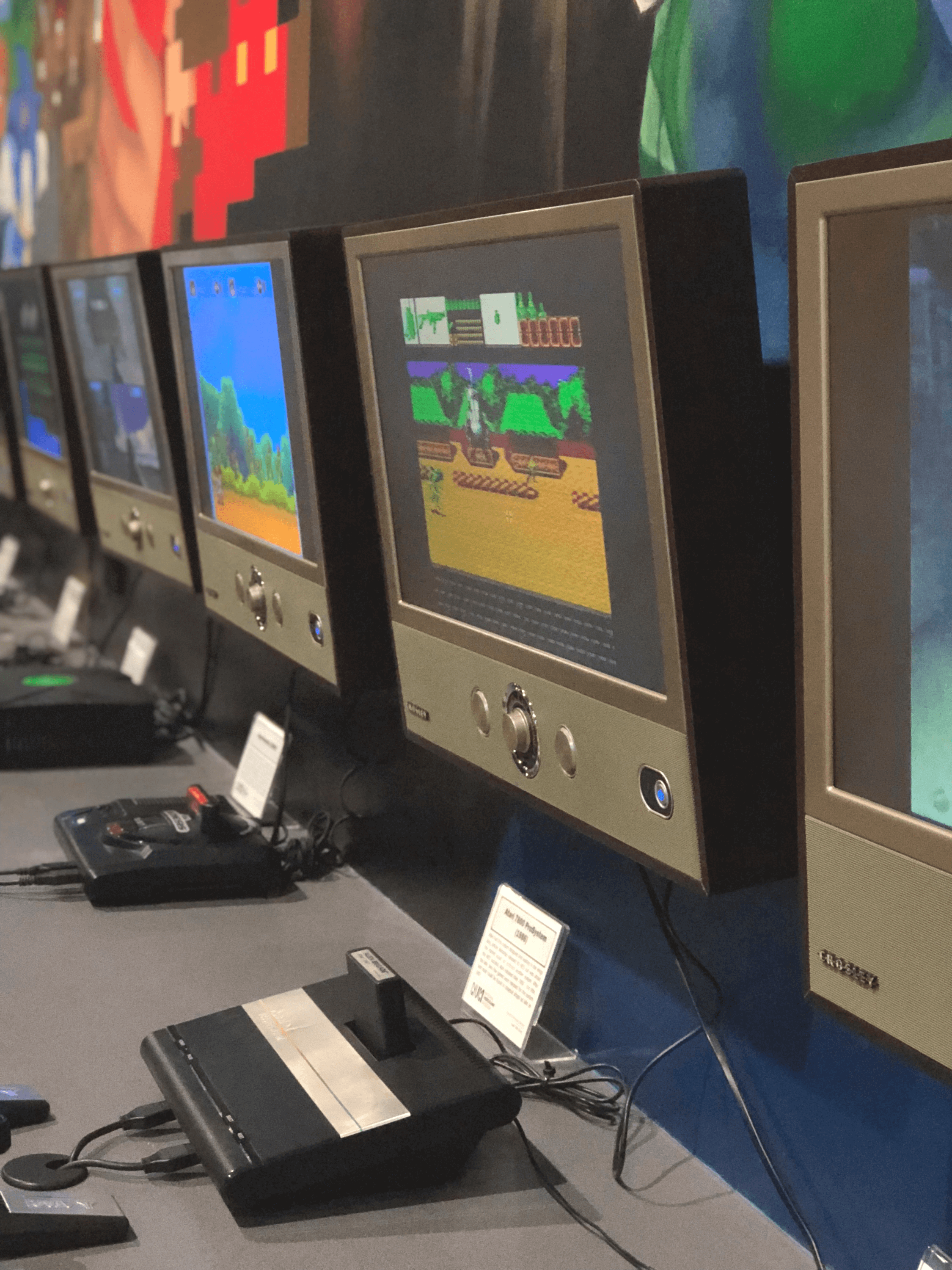 National Videogame Museum Console row