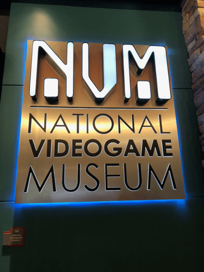 National Videogame Museum sign