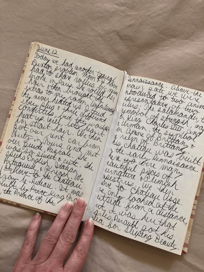 Travel Journal full of text