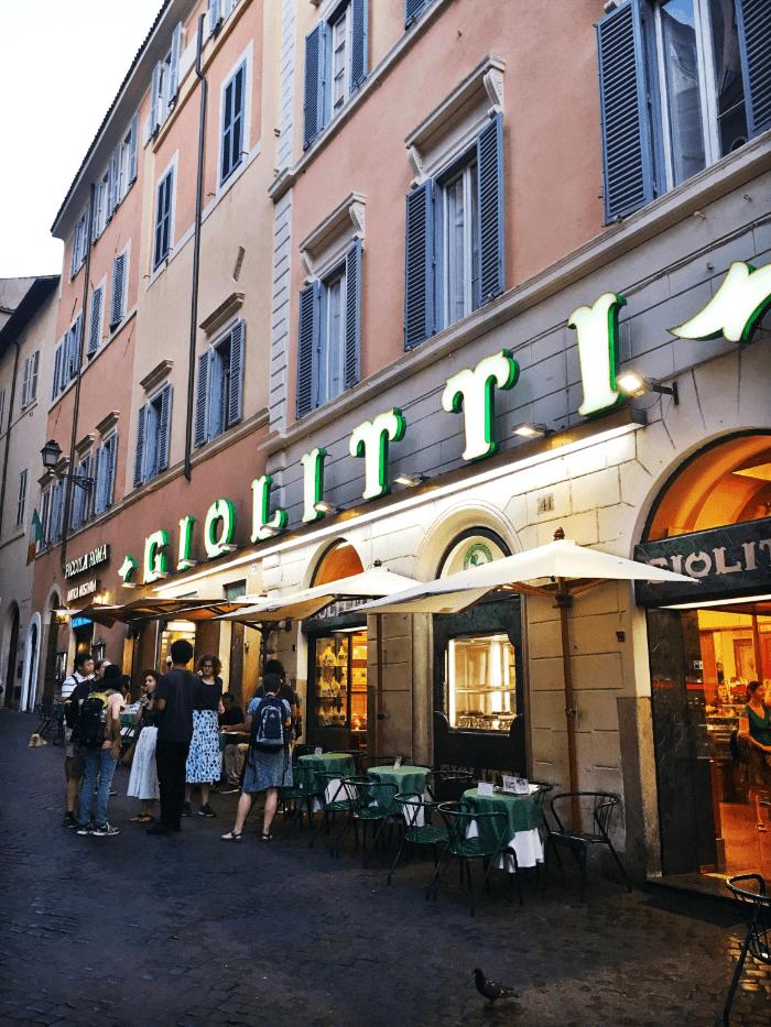Gelato vs. Creme Brulee Giolitti Rome