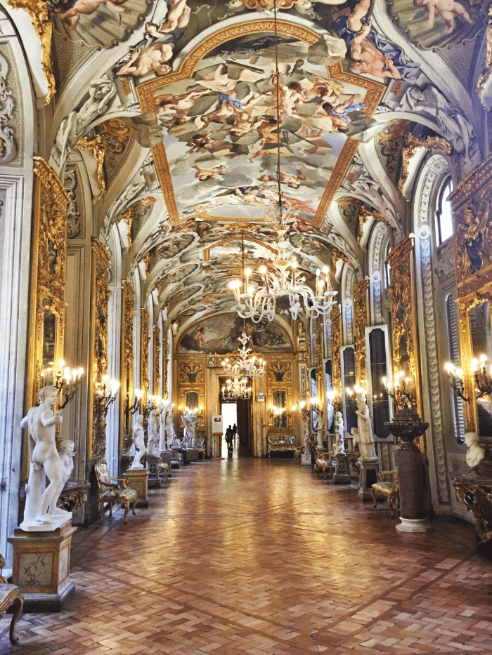 Beautiful Palazzo Doria-Pamphilj Hall of Mirrors in Rome