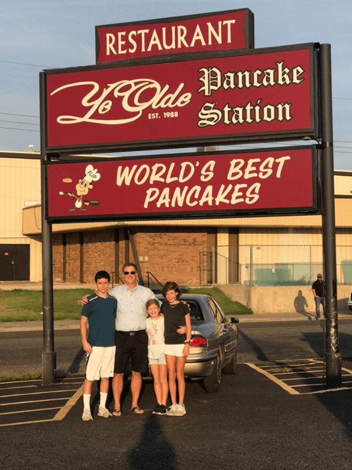 "modern-day ""Family Griswold"" Ye Olde Pancake Station"