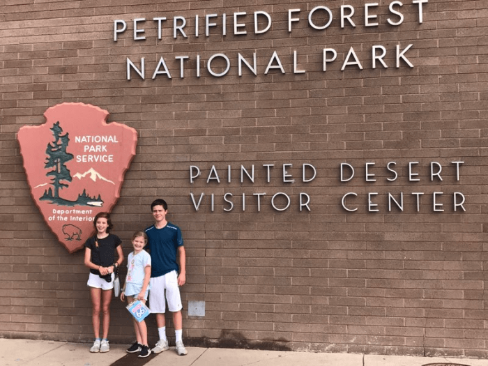 Petrified Forest National Park Sign at the Visitor's Center