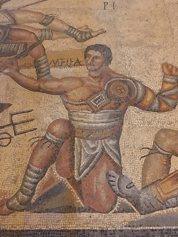 Got Rome Right Gladiator Mosaic