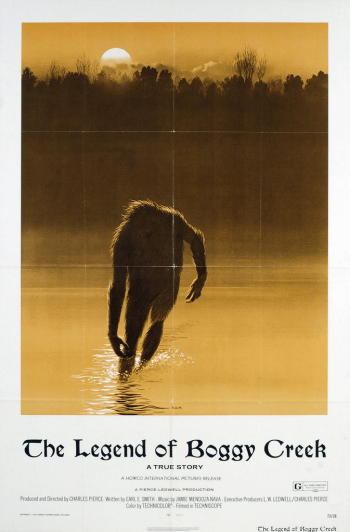Quirky Texas Legend of Boggy Creek Poster