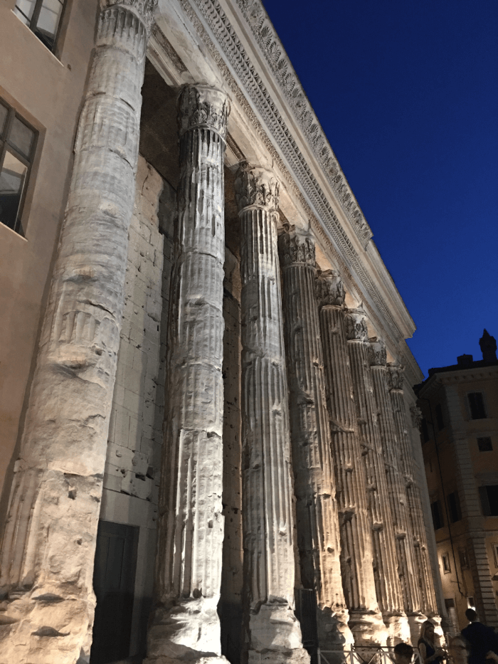 Got Rome Right Columns at Night