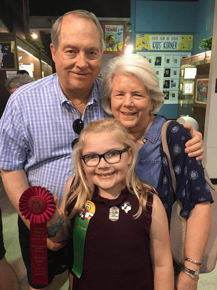 Ribbon Winners Maggie and Grandparents