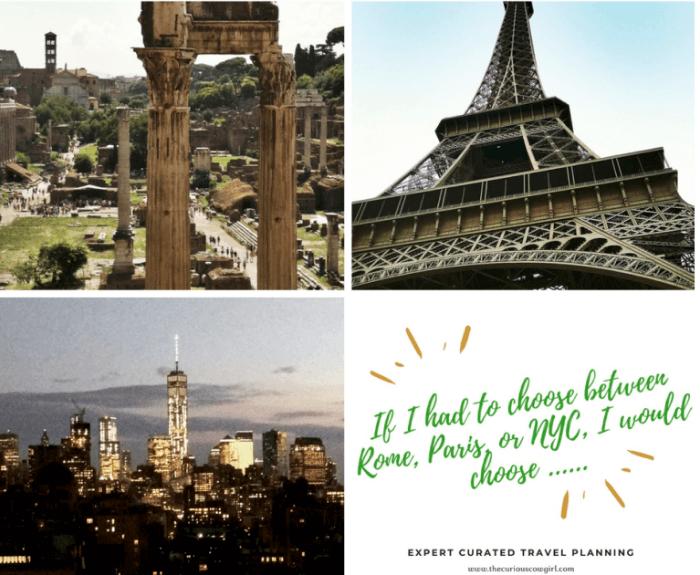 Feedback Rome, Paris or NYC