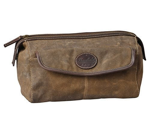 Brown Canvas Toiletry Bag