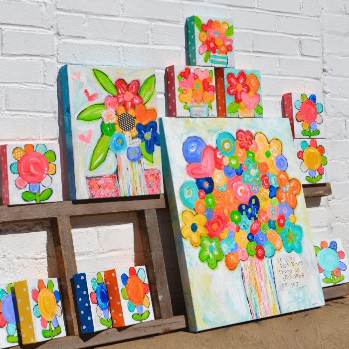Giving Round Up Art & Soul Flower Canvases