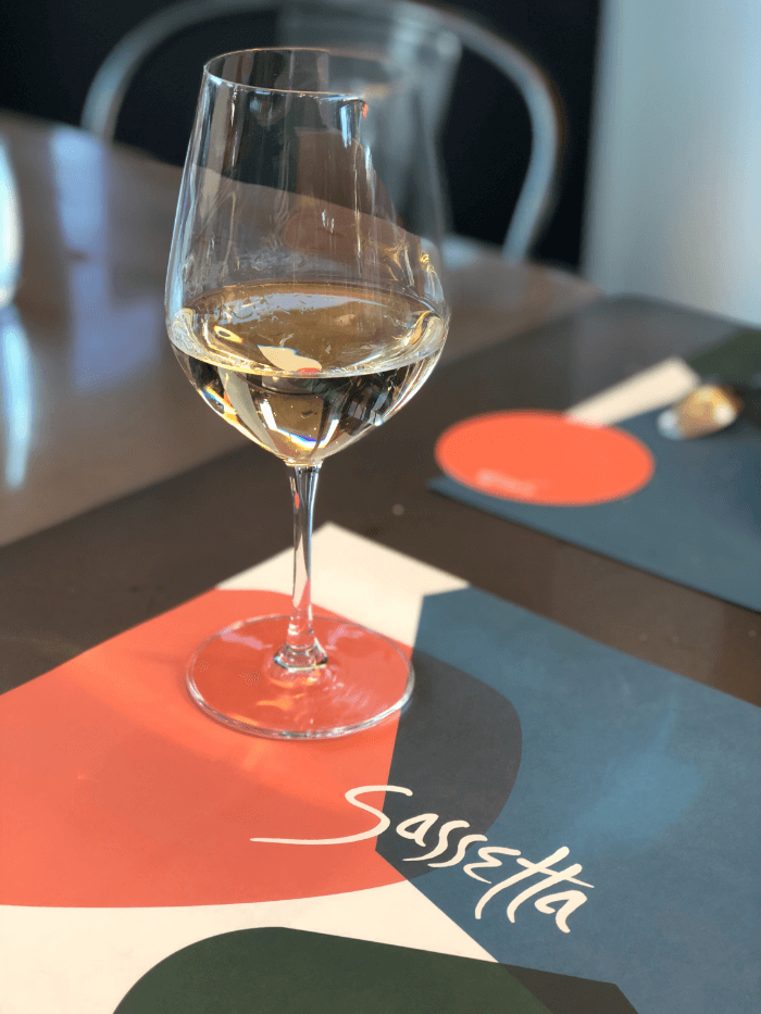 Home Town Sassetta glass of wine