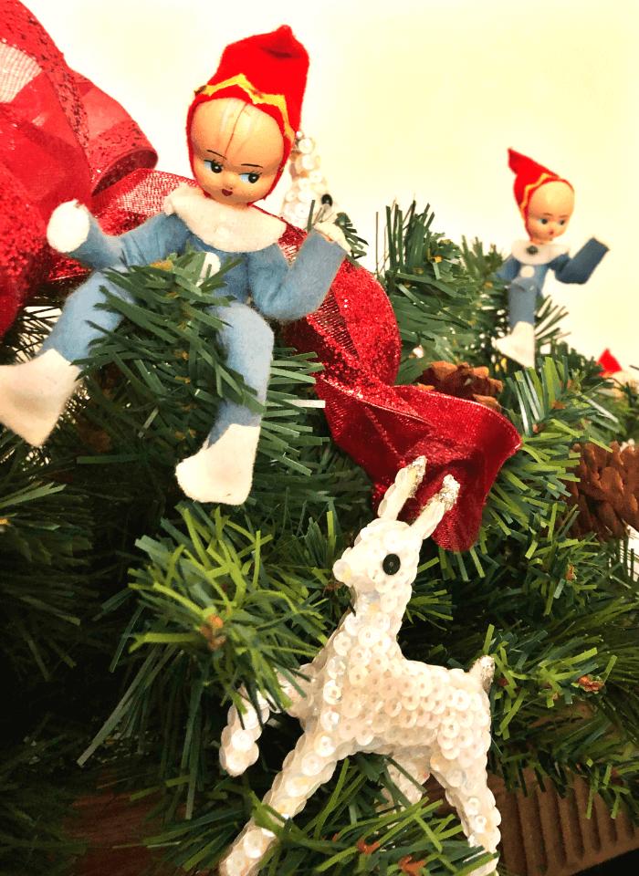 My Vintage Christmas Elves and Reindeer