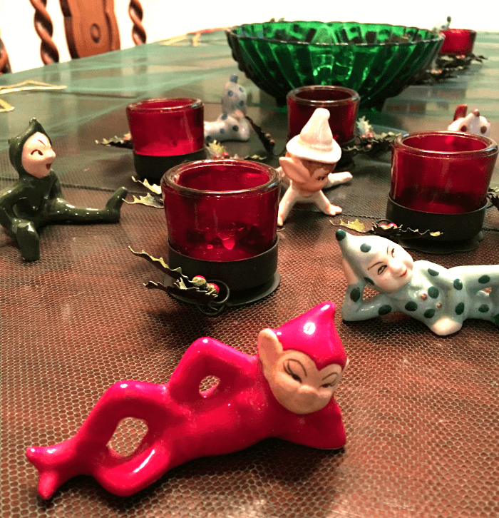My Vintage Christmas Elves and candles