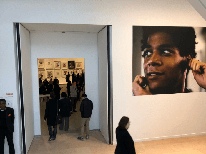 Jean-Michel Basquiat portrait at the Louis Vuitton Foundation exhibit