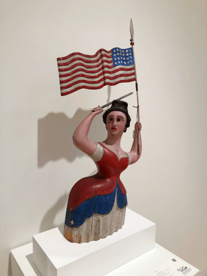 Art Auction Lady Liberty Folk Art Statue