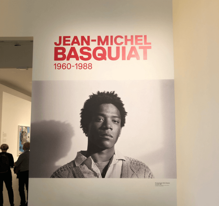 Entrance to the Jean-Michel Basquiat exhibit