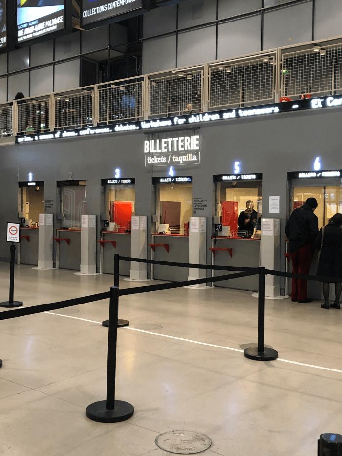 Centre Pompidou ticket windows