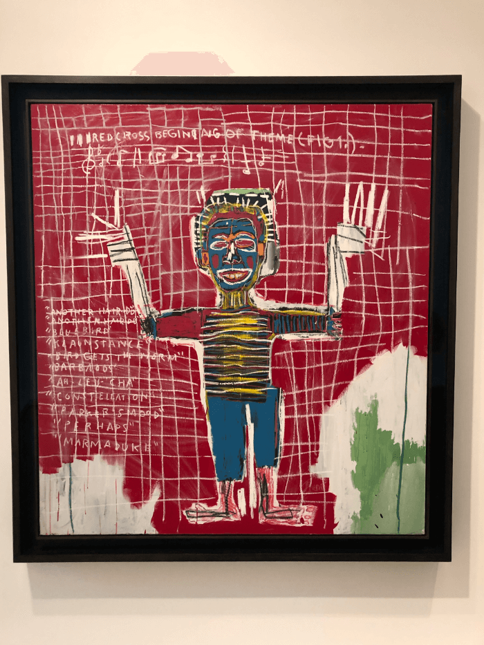 Jean-Michel Basquiat red painting