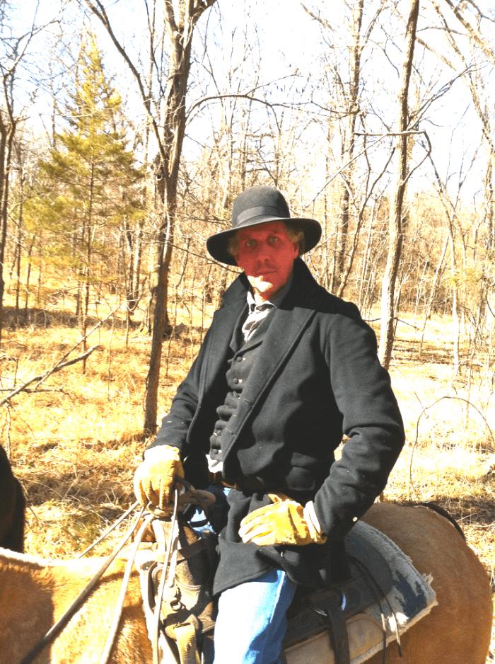 Will Evans on horseback