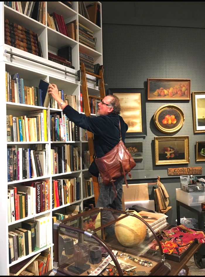 Will Evans at the Bond Street Antique Shop in NYC