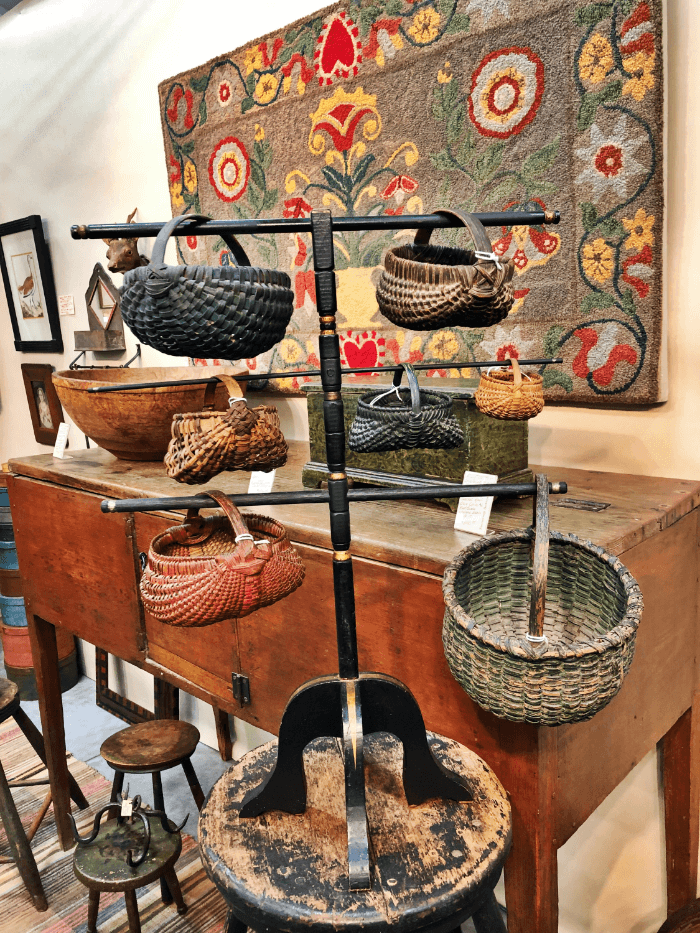 Nashville Antique Shows Booth Detail with baskets
