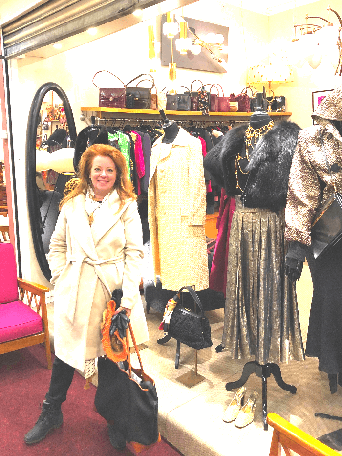The Curious Cowgirl shopping for Vintage Clothes in Paris