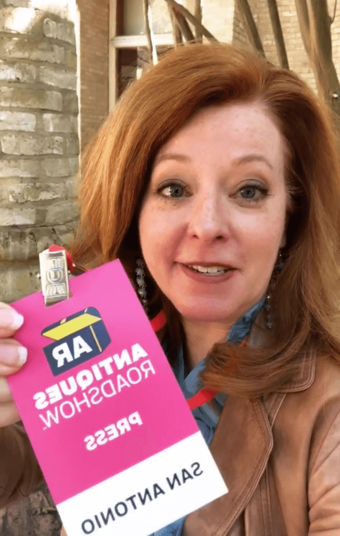 The Curious Cowgirl with her Antiques Roadshow Press Pass