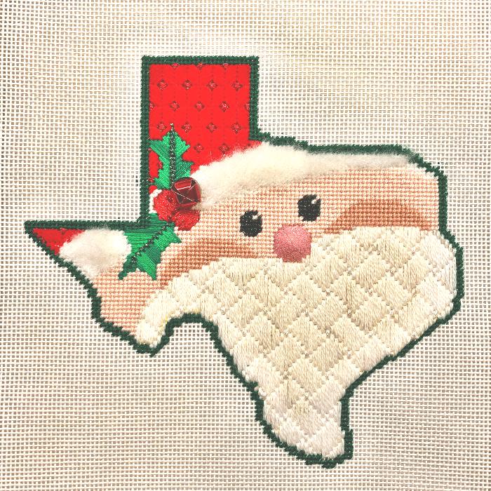 The Meredith Collection Texas Santa Needlepoint Canvas