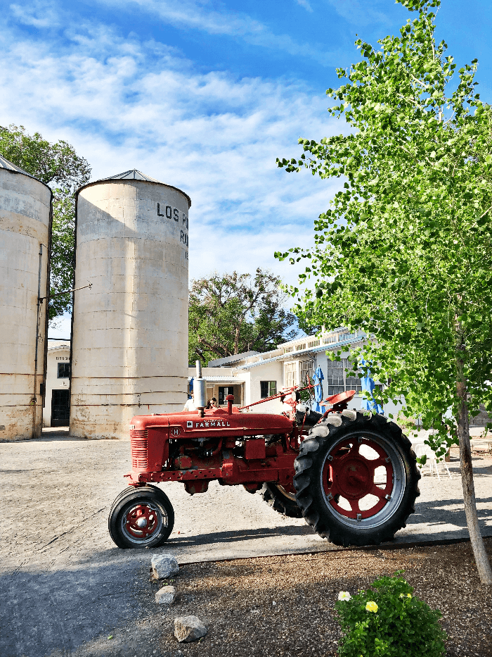Red Tractor at Los Poblanos Ranch